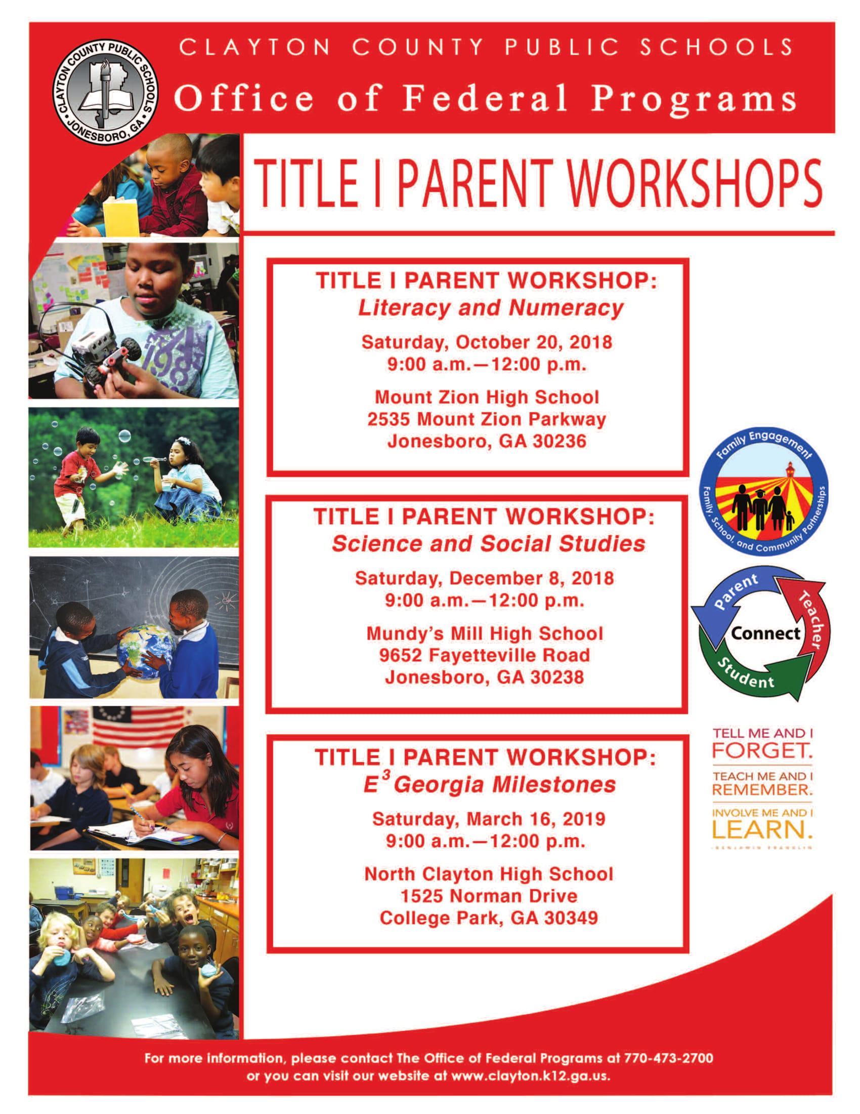 Title I Parent Workshops