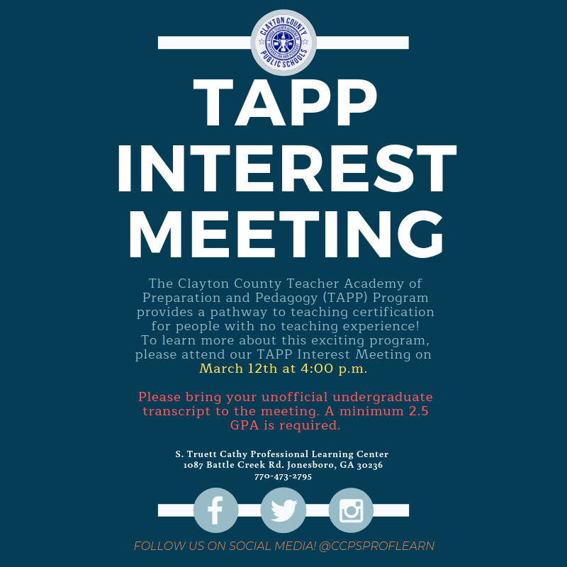 TAPP Interest Meeting March