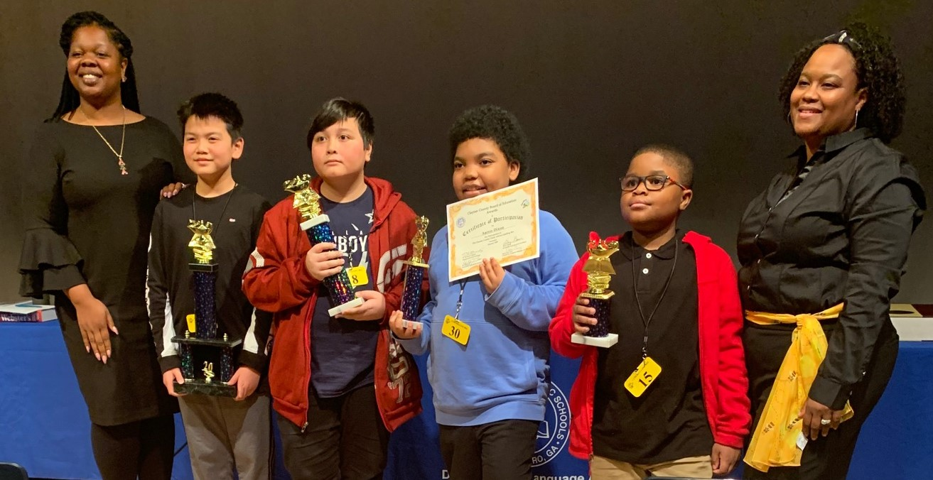 NES's Jourdan Ceus Places 4th in District Spelling Bee